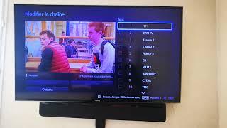 Changer l'ordre des chaines sur tv Samsung