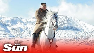 North Korea state TV airs video of Kim Jong-un riding a horse up the sacred mountain, Mount Paektu