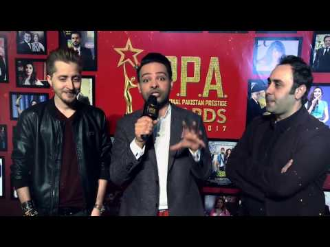 Abdullah Farhatullah  Wajahat Rauf  Host Ali Saleem  Red Carpet  I P P A  Curtain Raiser  2017