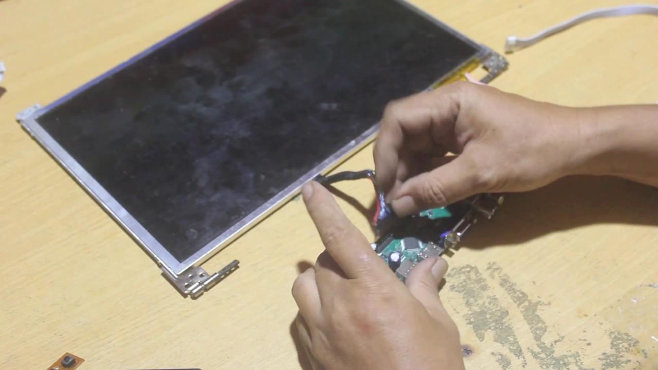 Modifikasi Layar Laptop Jadi Tv Mengunakan Mesin Tv Led Universal T V56c 01 Youtube