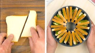Cut 13 Slices Of Bread In Half & Stack Them In A Bundt Pan – It's Party Time!