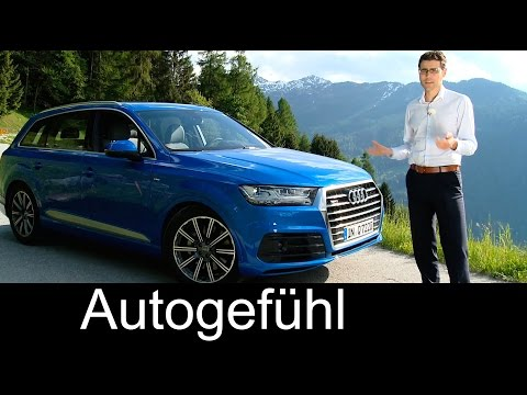All-new Audi Q7 S-line FULL REVIEW test driven 2016 V6 TFSI 333 hp neuer Q7 - Autogefühl