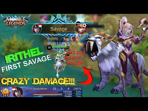 FIRST SAVAGE!!! IRITHEL CRAZY DAMAGE Build and Gameplay - Mobile Legends Patch 2.08