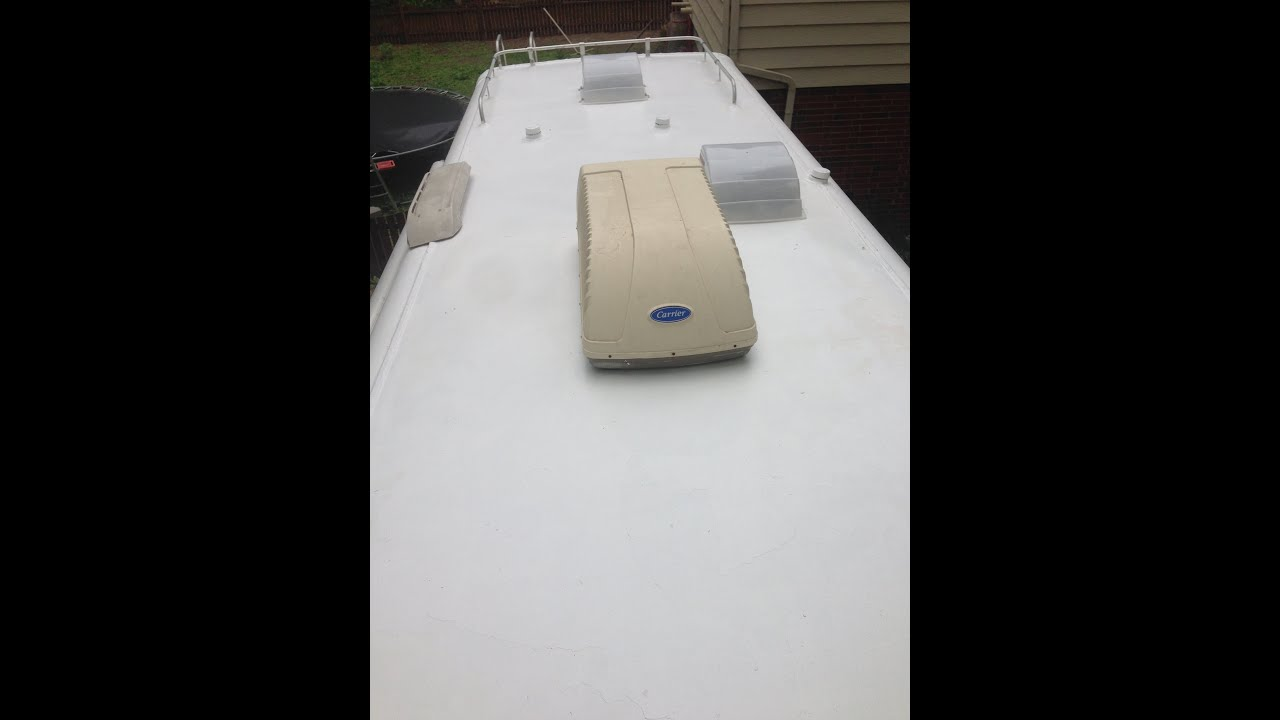 1992 rexhall airex rv fiberglass roof repair re seal dicor lap