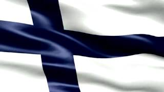 Flag of Finland looping background