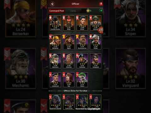 Last Empire War Z: Officers Skill Points And Suits