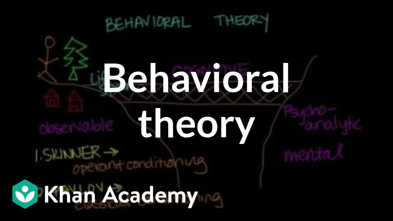 Behavioral theory (video) | Behavior | Khan Academy