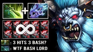 CRAZY MAX ATTACK SPEED BASH 42% Brutal Butterfly Barathrum Imba Ganker Top Rank Game Dota 2