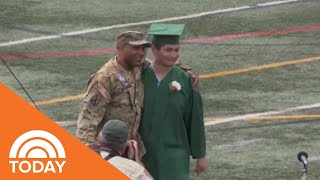 Military Father Surprises Son At Graduation  | TODAY