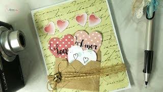 81143efa88f1 Manualidades Scrap  Cómo hacer tarjeta para enamorados fácil DIY