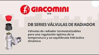 Válvulas de radiador termostatizables DB Series de Giacomini
