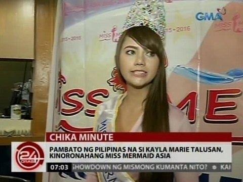 24Oras: Pambato ng Pilipinas na si Kayla Marie Talusan, kinoronahang Miss Mermaid Asia