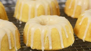 Vanilla Bundt Cakes Recipe Demonstration - Joyofbaking.com