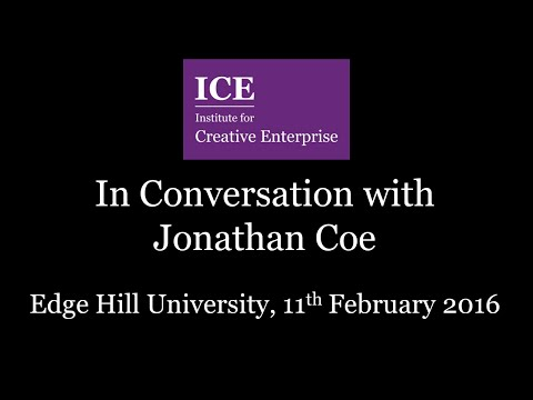 ICE In Conversation with Jonathan Coe