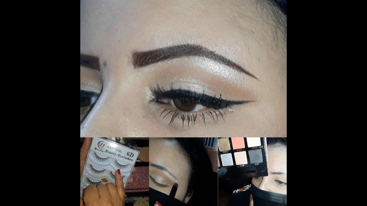 أسهل خطوات دمج ظلال العيون😍تركيب الرموش للمبتدئات Soft Eye makeup Tutorial