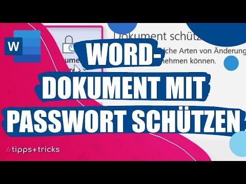 Word-Dokument Mit Passwort Schützen