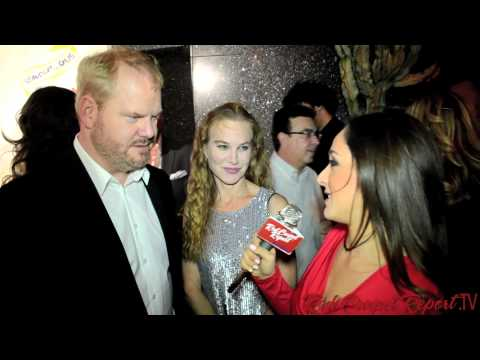 Jim & Jeannie Gaffigan at the Stand Up for Gus Red Carpet @JimGaffigan @jeanniegaffigan