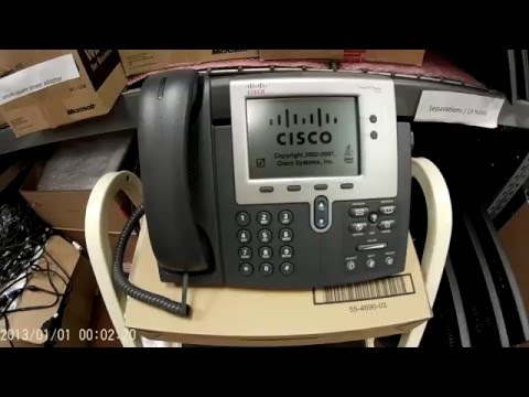 Cisco 7942 IP Phone Un-box and how to find MAC address - YouTube - address to phone
