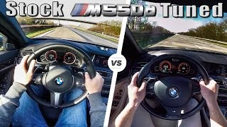 BMW M550d CHIP vs STOCK Acceleration & TOP SPEED Autobahn POV by AutoTopNL