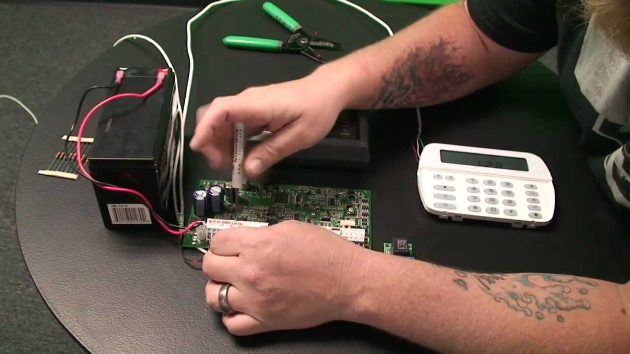 How To Wire A Dialer An Alarm Control Panel Part1 Youtube Veritas Bell Box Wiring