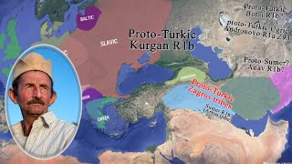 Animated mapping of Proto-Türkic & Indo-European expansions | R1a & R1b tribes (updated 2015)