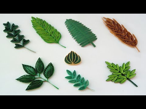 Quilling Basic Shapes - Leaves (8 different types ) Paper Quilling Art