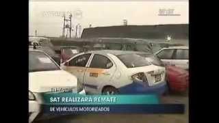 SAT remata vehículos en buen estado