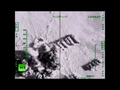 RAW: Russian airstrikes with cruise missiles, smart bombs on ISIS targets in Syria