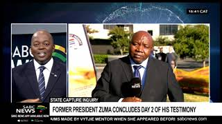Former President Zuma concludes day 2 of his testimony