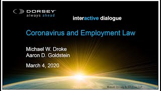 Coronavirus and Employment Law