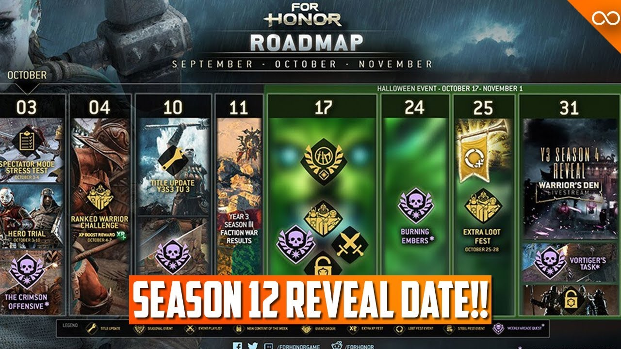 For Honor Halloween Event 2020 Gear For Honor Season 12 Reveal Date!   Halloween Event   October