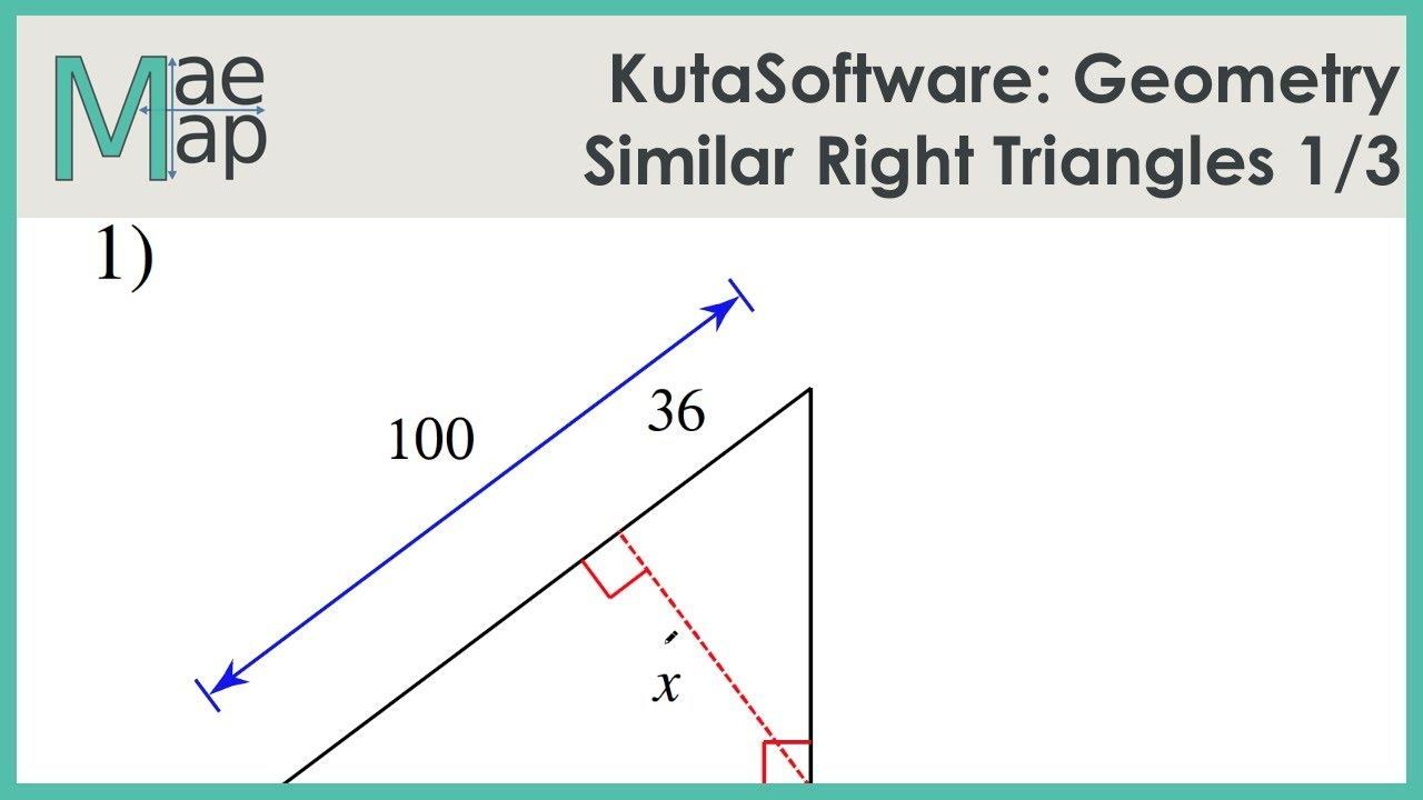 KutaSoftware: Geometry- Similar Right Triangles Part 1 - YouTube [ 720 x 1280 Pixel ]