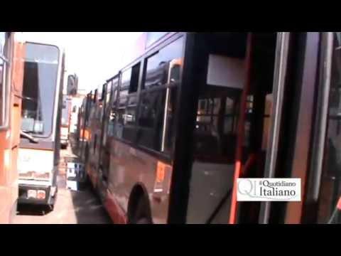 Amtab a pezzi, autobus da rottamare per strada: le immagini dell'officina-cimitero