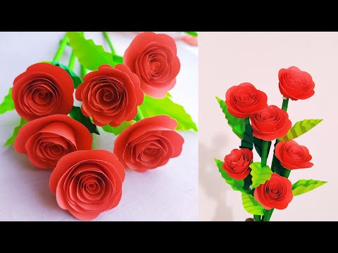 paper flower stick!!! how to make beautiful paper flower stick at home/stick flower #20