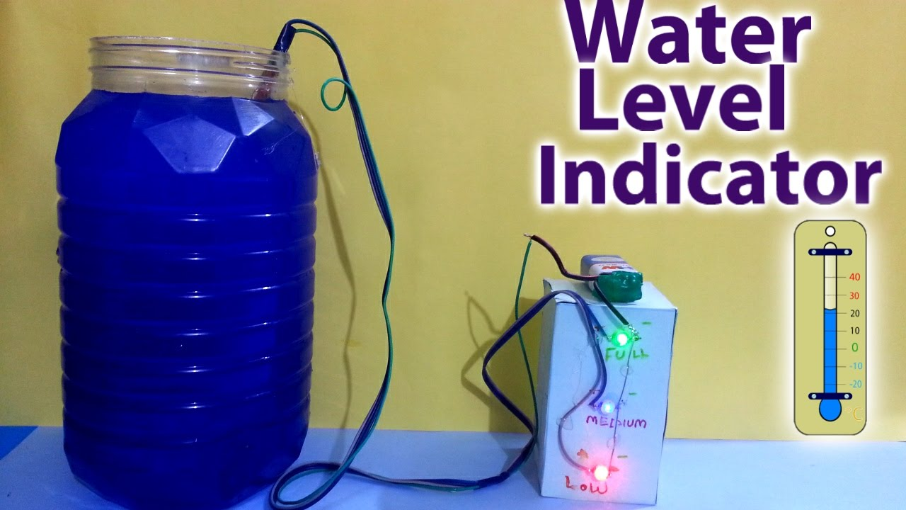 Water Level Indicator Science Project ️️ Youtube