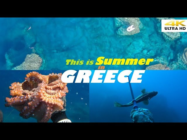 Spearfishing 🇬🇷 |🌊This is SUMMER in GREECE☀️SECRET little PARADISE-CATCH and COOK [4Κ]✅