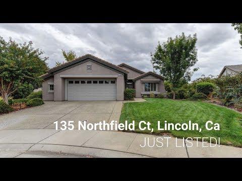 135 Northfield Ct, Lincoln, Ca. 95648   Sun City Lincoln Hills Home For Sale