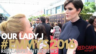 Our Lady J interviewed at the Creative Arts Emmy Awards Red Carpet Day 1 #Emmys #EmmysArts