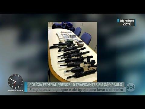Polícia de SP prende dez integrantes de uma organização criminosa | SBT Brasil (21/02/18)