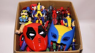 Box of Toys: Marvel Mashers, Cars, Deadpool, Wolverine Action Figures and More
