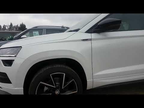 NEW SKODA Karoq 2.0 TDI 4x4 Sportline in Moon White - YouTube