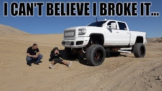 I OFFROADED MY TRUCK IN THE DESERT AND BROKE IT!