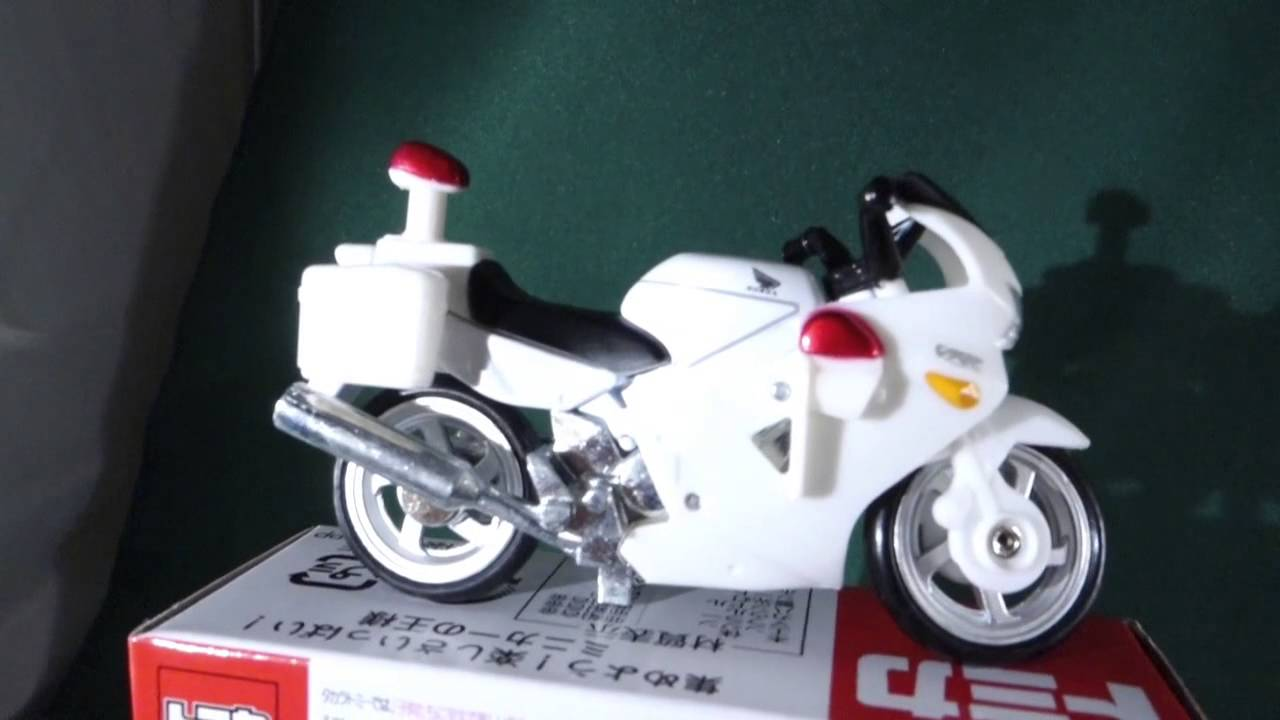 Tomica No 4 Honda Vfr Police Bike Youtube