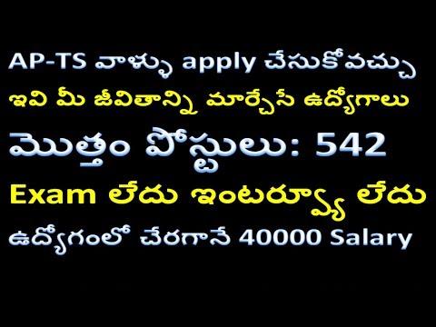 AAI 542 Junior Executive recruitment 2018 | AAI 542 Junior Executive Job details in telugu |Govt Job