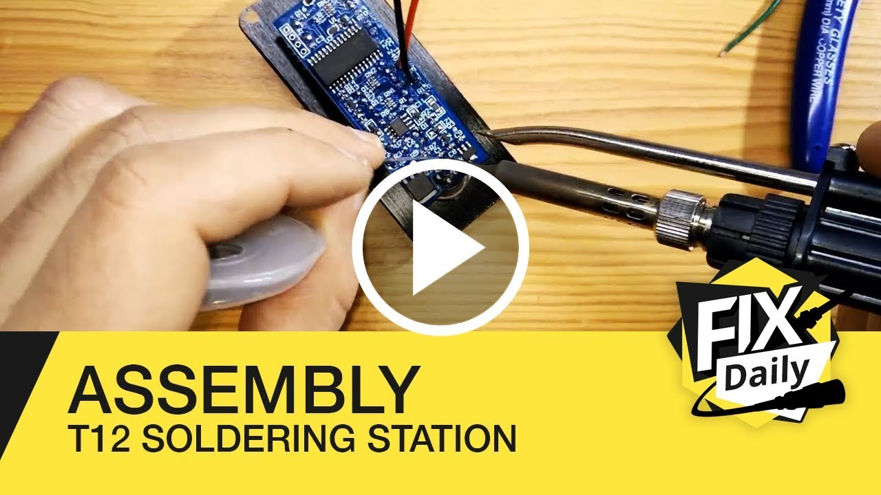 DXCHMEI 100-240V 1.3 inch OLED Soldering Iron Station DIY Kits with T12-A Handle