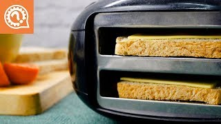 Как Сделать Горячий Бутерброд с Сыром в Тостере. Быстро и Очень Вкусно!