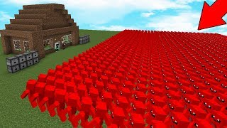 ДОМ НУБА VS 10000000 ЖЕЛЕЙНЫХ МИШЕК В МАЙНКРАФТЕ! СУПЕР ПУШКИ MINECRAFT! ЗАЩИТА ДОМА! ТРОЛЛИНГ