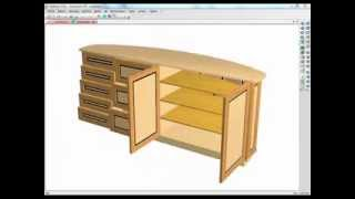 How To Design Curved Backed Furniture With Polyboard Cabinet Software