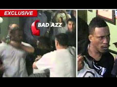 (FIGHT) RAY J Fight With BAD AZZ AT NOKIA CENTER ( Bad Azz Calls Radio)