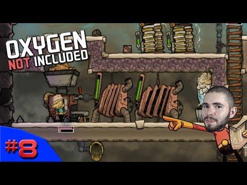 REFINARIA DE MINÉRIOS E PROBLEMAS A VISTA - Oxygen Not Included #8 - (Gameplay / PC / PTBR) HD - 동영상
